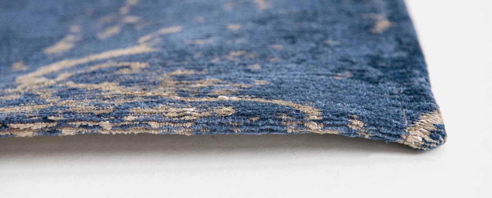 Louis De Poortere rug LX 8629 Mad Men Cracks Abyss Blue side