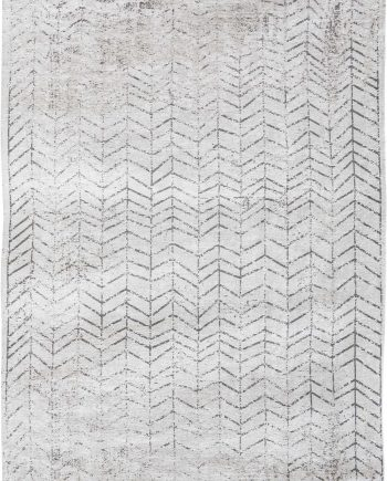 Louis De Poortere rug LX 8652 Mad Men Jacobs Ladder Black on White