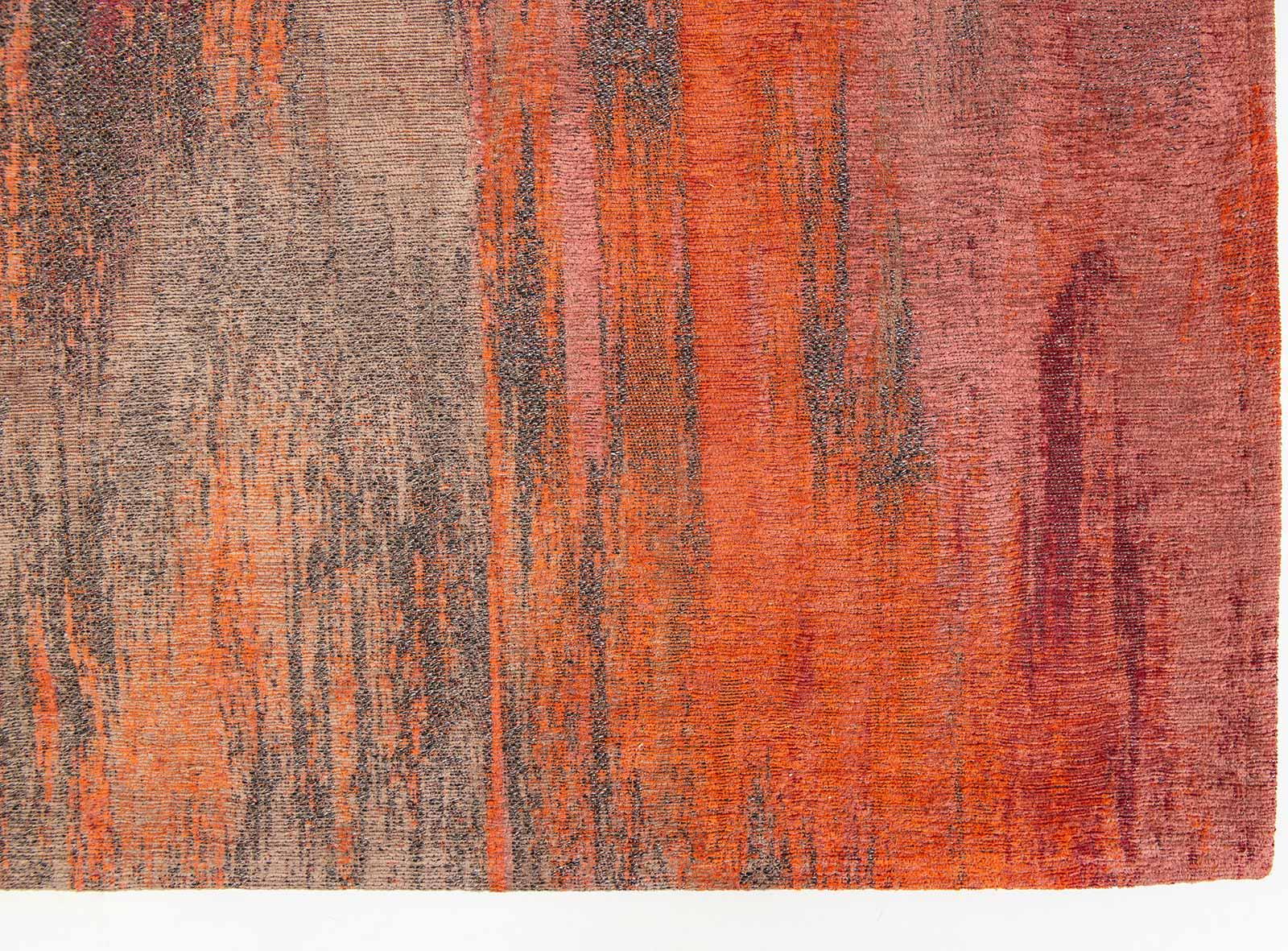 Louis De Poortere rug CS 9116 Atlantic Monetti Hibiscus Red corner