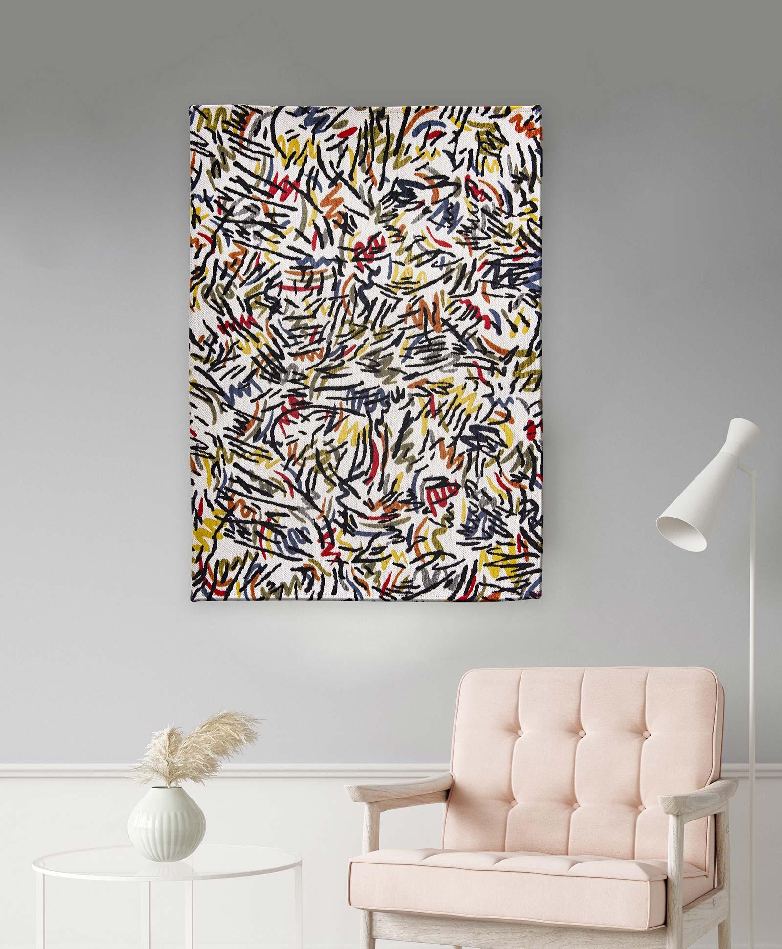Louis De Poortere rug CS 9144 Gallery Graffito Street Graph interior