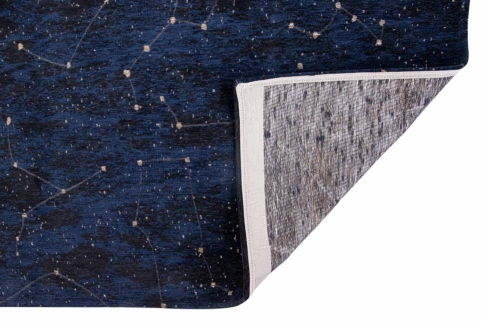 Louis De Poortere rug Fischbacher 9060 Celestial Midnight Blue back