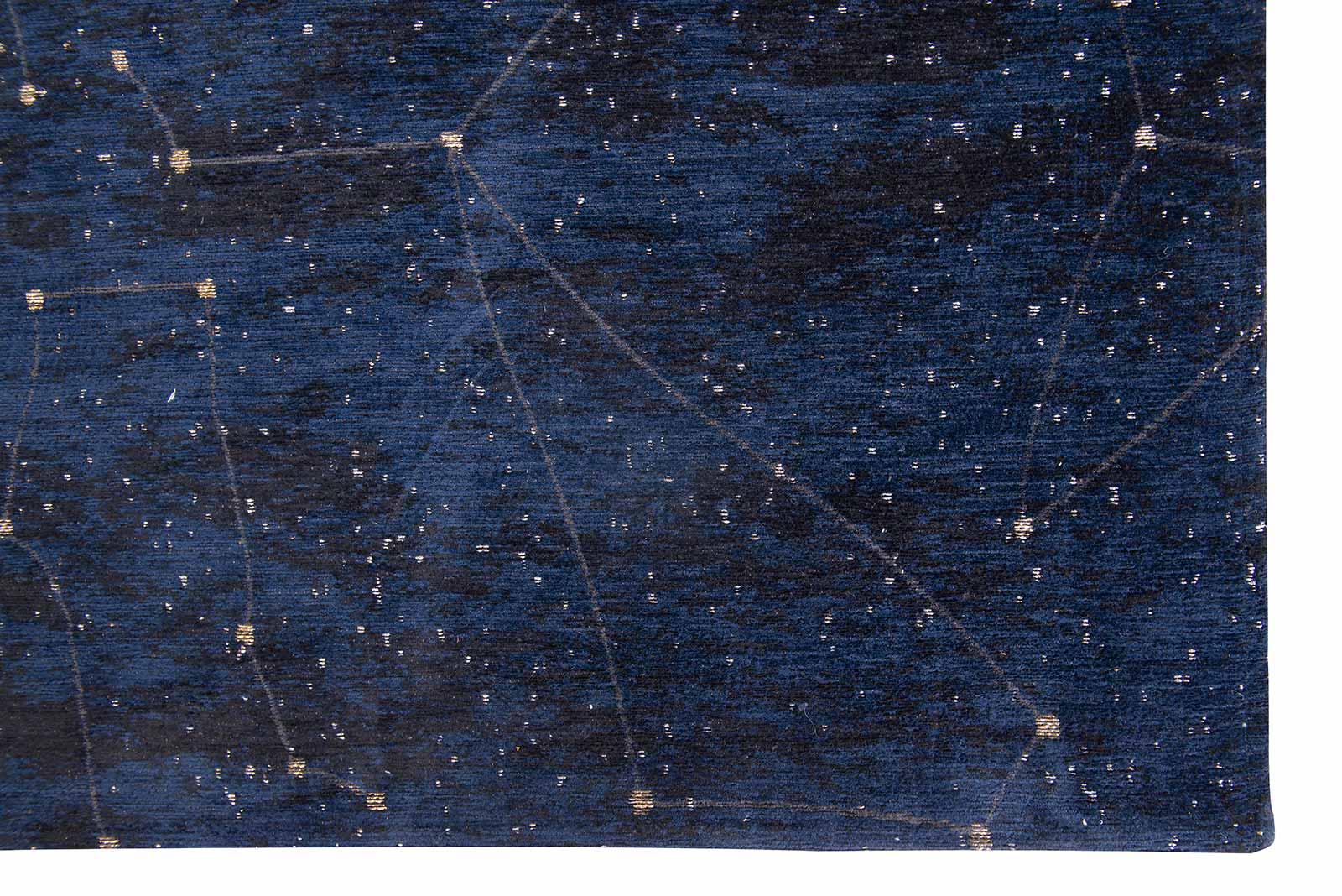 Louis De Poortere rug Fischbacher 9060 Celestial Midnight Blue corner