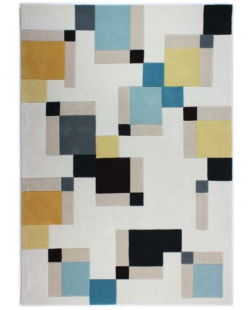 Andessi Rugs Cubox Blue Ochre 1