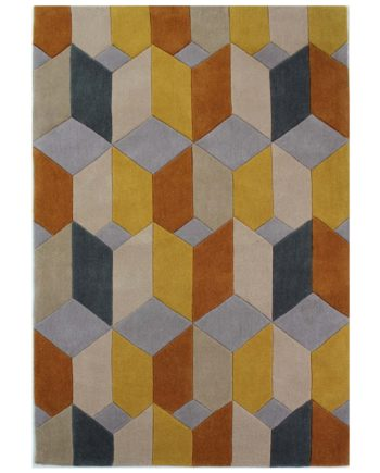 Andessi Rugs Opticco Ochre 1
