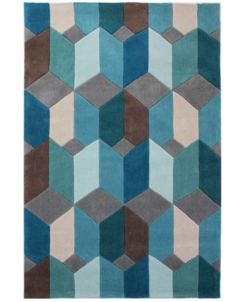 Andessi Rugs Opticco Teal 1
